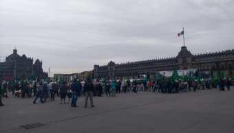 Marchas de campesinos llegan al Zócalo de la CDMX