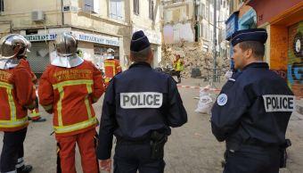 derrumba edificio en centro de marsella francia