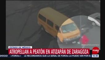 Hombre es atropellado en Atizapán de Zaragoza, Edomex
