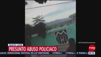 Denuncian presunto abuso policiaco en Nuevo León