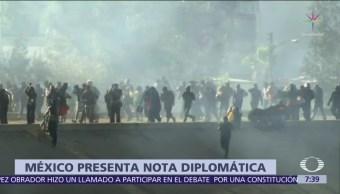México envía nota diplomática a EU por disturbios en Tijuana