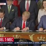 México, Estados Unidos y Canadá firman el T-MEC en Argentina