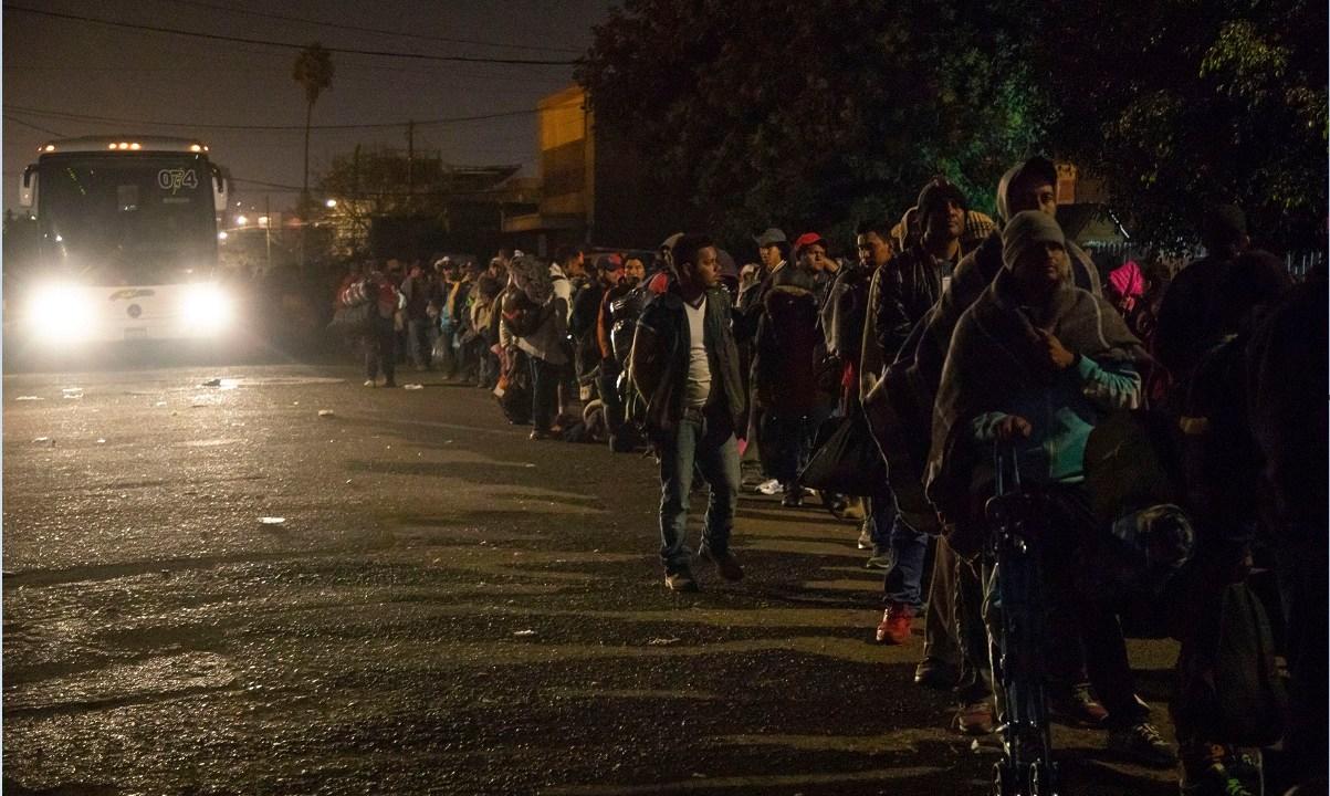 segunda caravana migrante salen de GAM rumbo a Chiapas