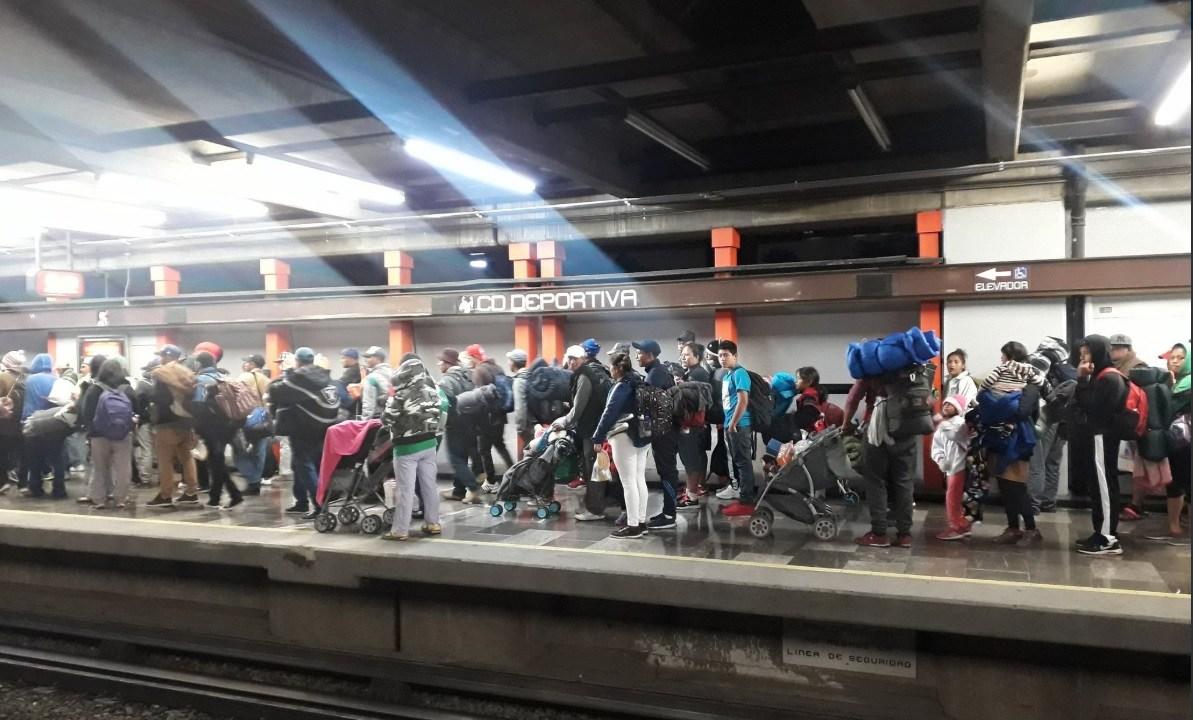 segunda caravana migrante inician marcha y dejan Magdalena Mixhuca