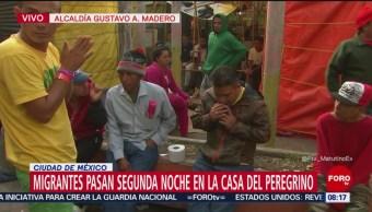Miembros de segunda caravana migrante pasan segunda noche en GAM
