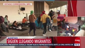 Migrantes Llegan Estadio Corregidora Querétaro Albergues