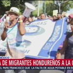 Migrantes marchan en la CDMX para pedir transporte