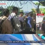 Migrantes salvadoreños cruzan territorio mexicano