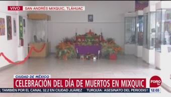 Mixquic instala ofrendas para sus muertos