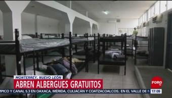 Monterrey abre albergues gratuitos