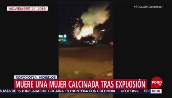 Muere mujer por explosión de pirotecnia en Morelos