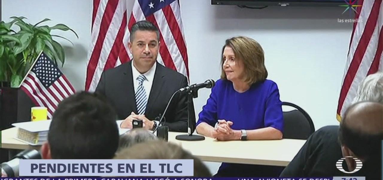 Nancy Pelosi advierte que México debe aprobar ley de derechos laborales
