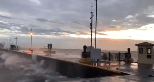 Vientos intensos por evento de Norte en costas de Veracruz