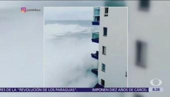 Olas de casi 10 metros de altura afectan costa de Tenerife