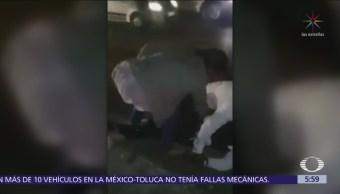 Pareja golpea y desarma a policía en Cuernavaca, Morelos