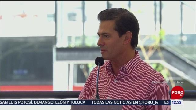 Peña Nieto destaca cumplimiento de compromisos durante su administración