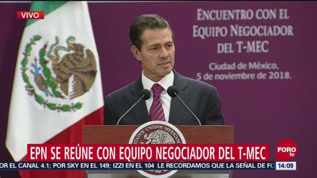Peña Nieto sostiene reunión sobre T-MEC