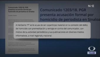 PGR pide 50 años de cárcel para asesino de periodista