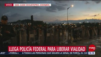 Policía Federal agota el diálogo con pobladores de San Juan Ixhuatepec
