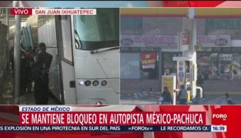 Policía Federal llega a zona de bloqueo en San Juan Ixhuatepec