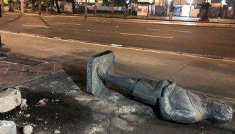 Policía frustra robo de estatua sobre Paseo de la Reforma