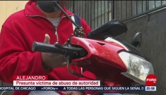 Policías Agreden Repartidor Motocicleta Comida Cdmx