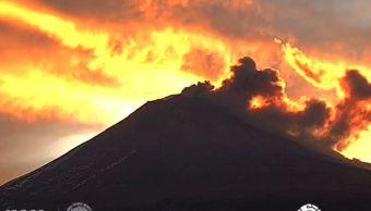 Volcán Popocatépetl registra 68 exhalaciones este domingo