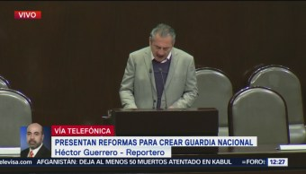 Presentan diputados iniciativa para crear la Guardia Nacional