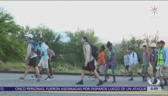 Primera caravana de migrantes se dispersa en Guanajuato, Jalisco y Aguascalientes