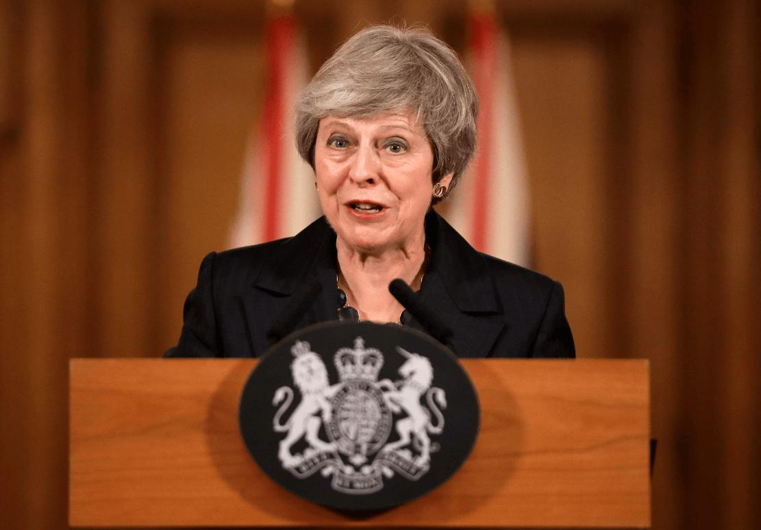 Primera ministra británica, Theresa May. (AP)