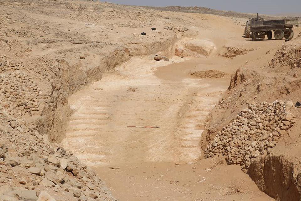 Rampa central que asciende desde la cantera en Hatnub (Ministry of Antiquities, Egypt)