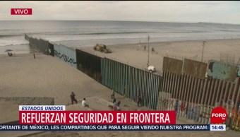 Refuerzan barda de la frontera México-Estados Unidos