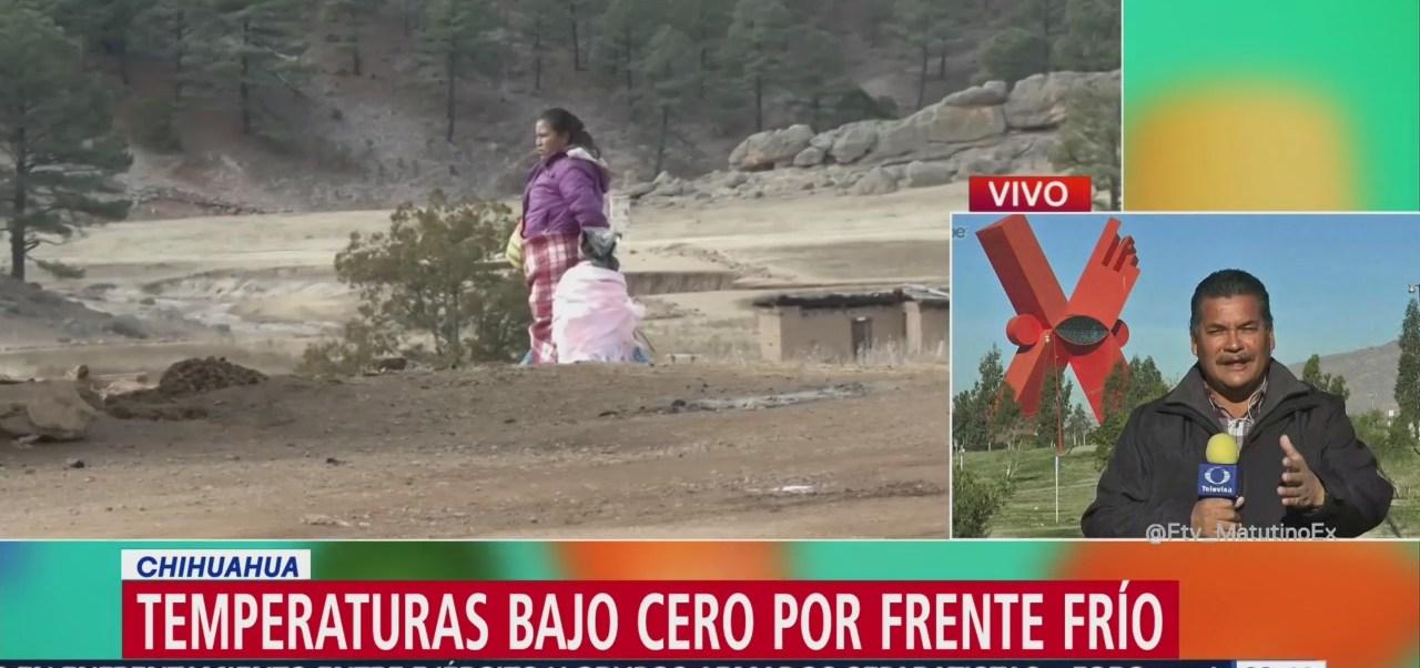 Reportan hasta 8 grados bajo cero en zonas de Chihuahua