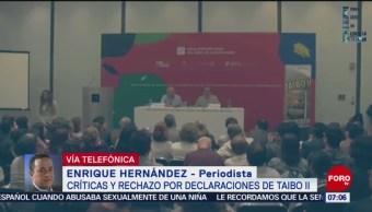 Reprueban palabras de Paco Ignacio Taibo II en la FIL de Guadalajara