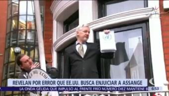 Revelan por error que EU busca enjuiciar a Julian Assange