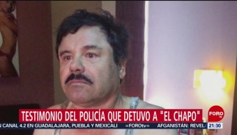 Revelan Testimonio Policía Detuvo Chapo 2016
