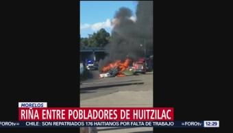 Riña entre pobladores de Huitzilac, Morelos