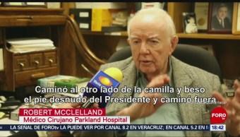 Robert McClelland, el médico que sostuvo el cerebro de Kennedy