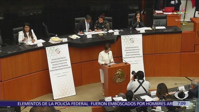 Rosario Robles compareció ante el Senado de la República