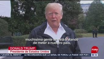 Trump Reitera Que No Permitirá El Ingreso De Migrantes Ilegales A Eu Presidente Donald Trump