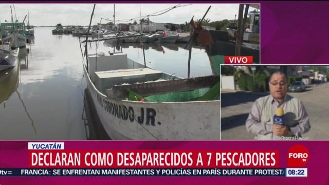 Declaran Desaparecidos A 7 Pescadores En Yucatán Secretaría De Marina Busca A Siete Pescadores Yucatán