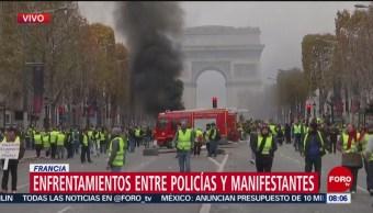 Miles de personas se manifiestan en Francia contra gasolinazo