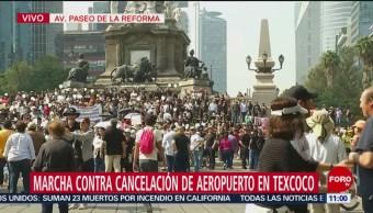 Se reúnen manifestantes en el Ángel de la Independencia
