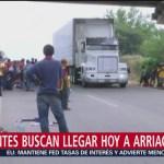 Migrantes buscan llegar en unas horas a Arriaga, Chiapas