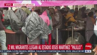 Segunda caravana recibe desayuno en la Magdalena Mixhuca