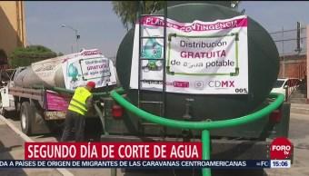Segundo día de corte de agua en el Valle de México