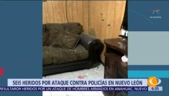 Seis heridos por ataque contra policías en Nuevo León