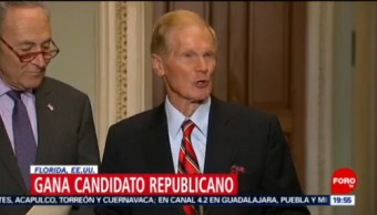 Senador Republicano Gana Florida Senador Demócrata Bill Nelson Republicano Rick Scott En Florida