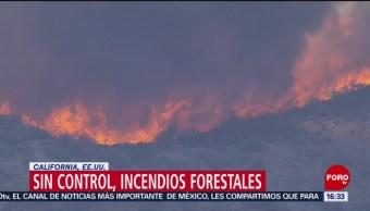 Sin control, incendios forestales en California