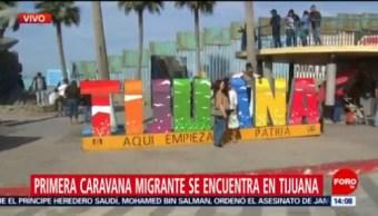 Sitios Habilitados Para Migrantes Tijuana Aumenta La Seguridad Frontera De Tijuana Presencia De La Caravana Migrante Caravana Migrante